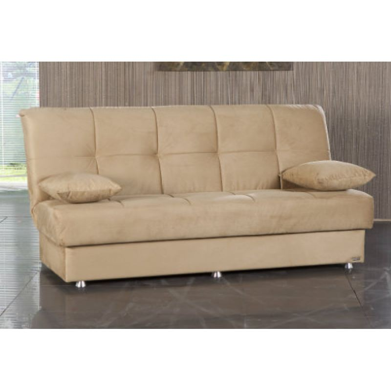 Reno Rainbow Dark Beige Convertible Sofa Bed By Sunset Istikbal Furniture