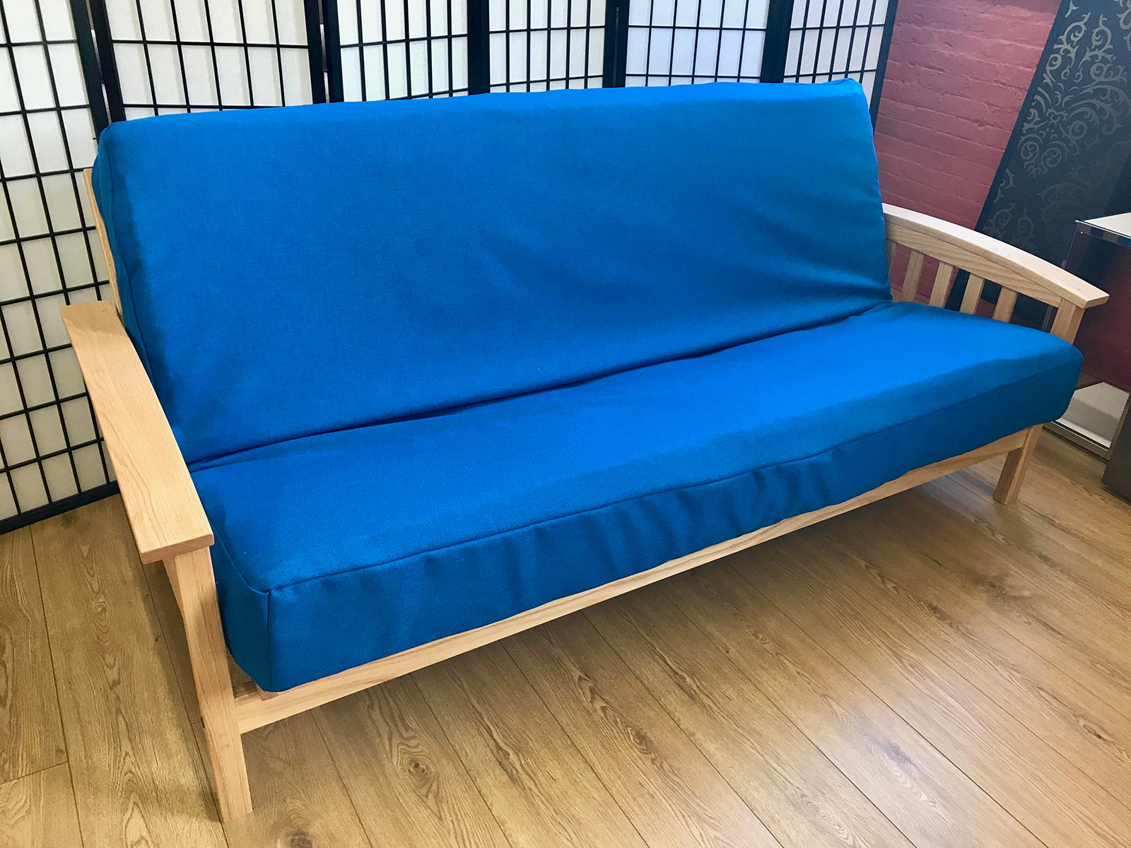 Synthetic Royal Blue Futon Cover Queen Prestige Furnishings