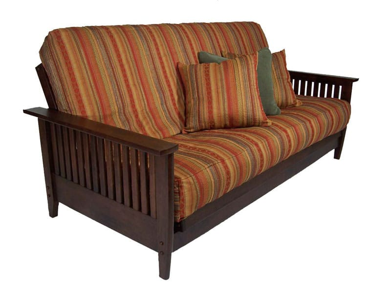 Denali Dark Cherry Full Wall Hugger Futon Set By Strata Furniture