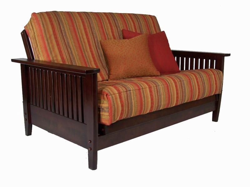 Denali Dark Cherry Twin Chair Wall Hugger Futon Set by ...