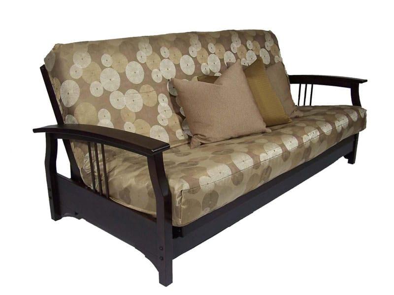 Fremont Black Walnut Queen Loveseat Wall Hugger Futon Frame By Strata Furniture