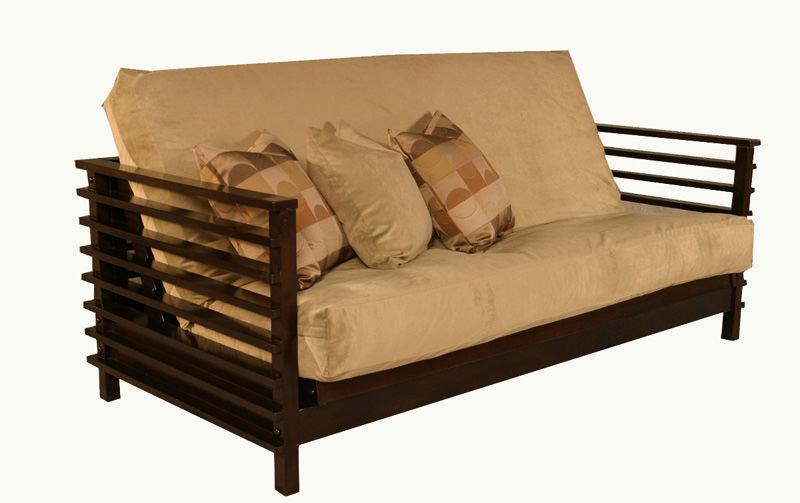Orion Black Walnut Loveseat Futon Set by Strata Furniture