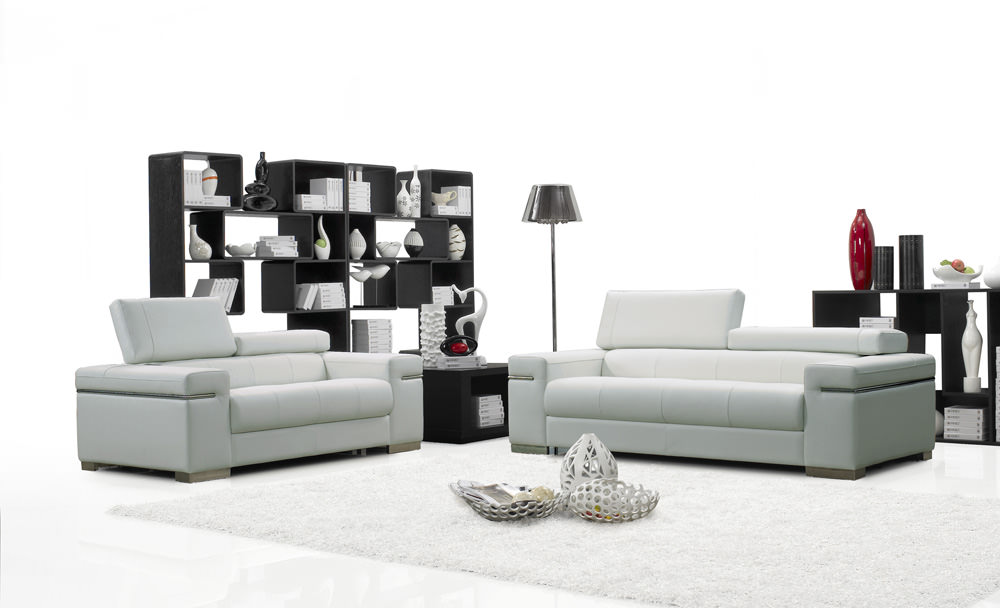Soho Premium Italian Leather Sofa White By Ju0026M Furniture (Ju0026M Furniture)