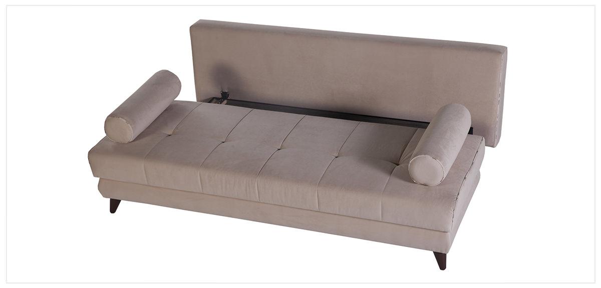 Stella Esterella Cream Convertible Sofa Bed by Sunset
