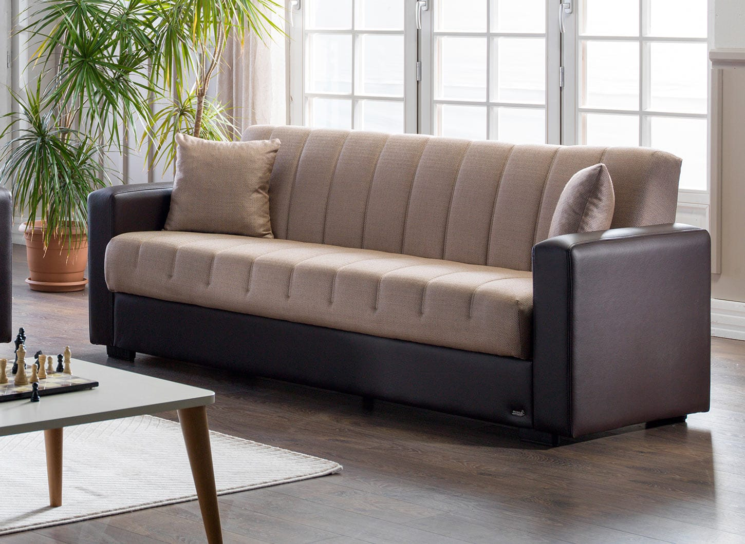 Sidney Bolzoni Beige Convertible Sofa Bed By Istikbal Furniture