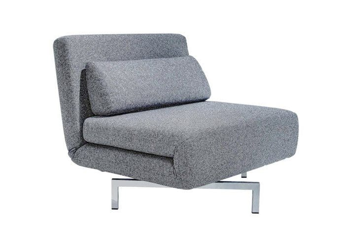 Swivel 04 gray single chair sleeper by new spec for Grey single chair