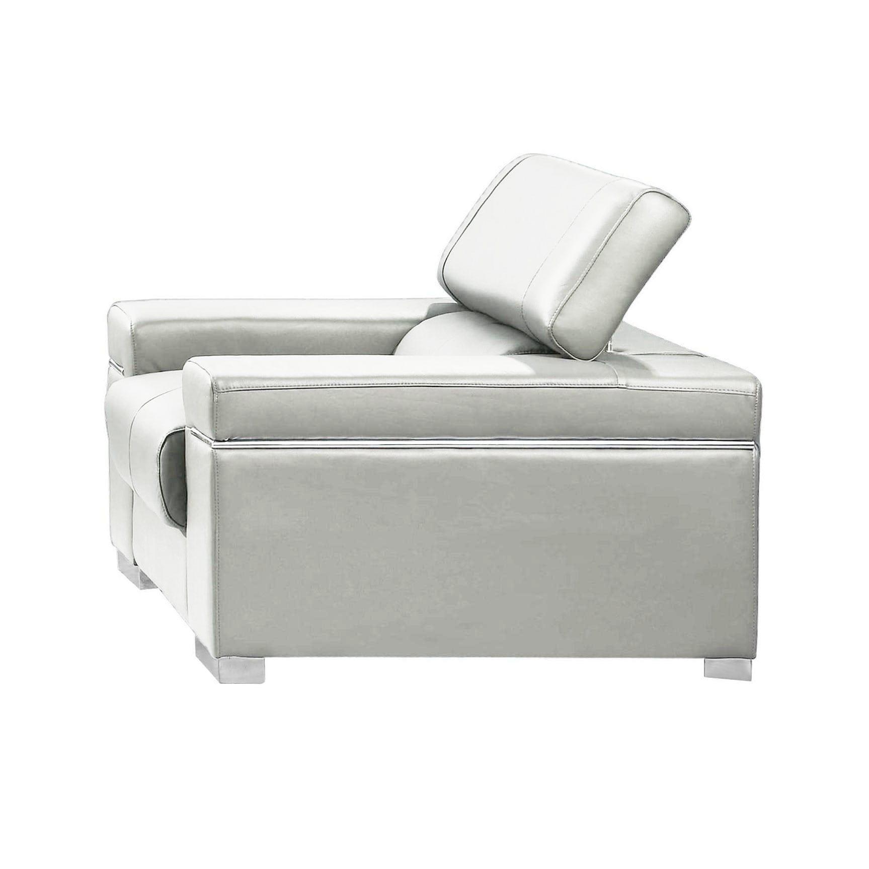 soho premium italian leather chair white by j m furniture
