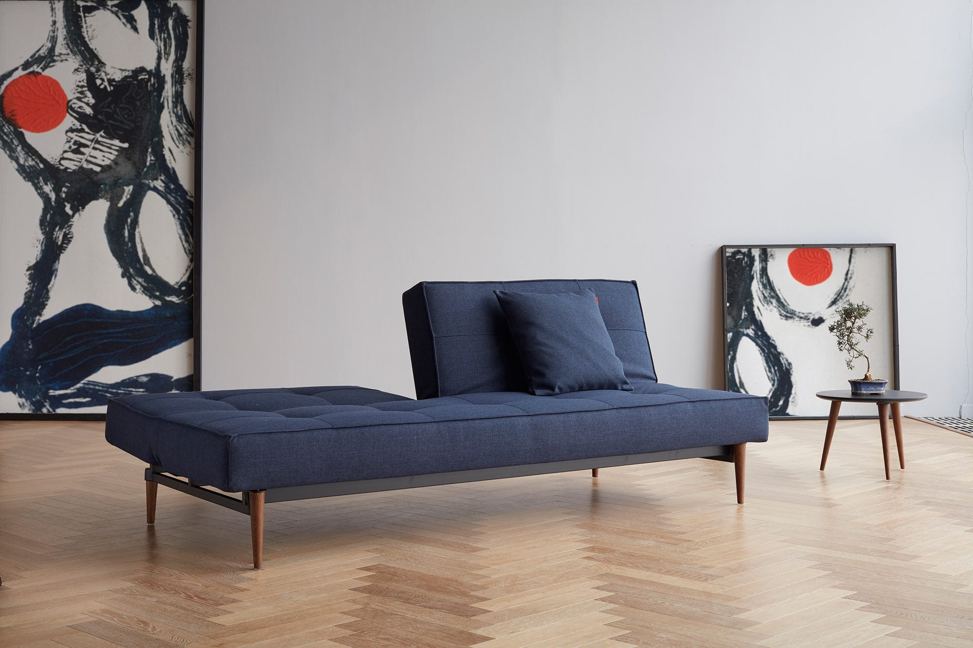 Splitback Sofa Bed Mixed Dance Blue By