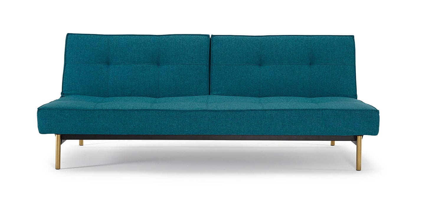 Splitback Sofa Bed Chenille Oatmeal By