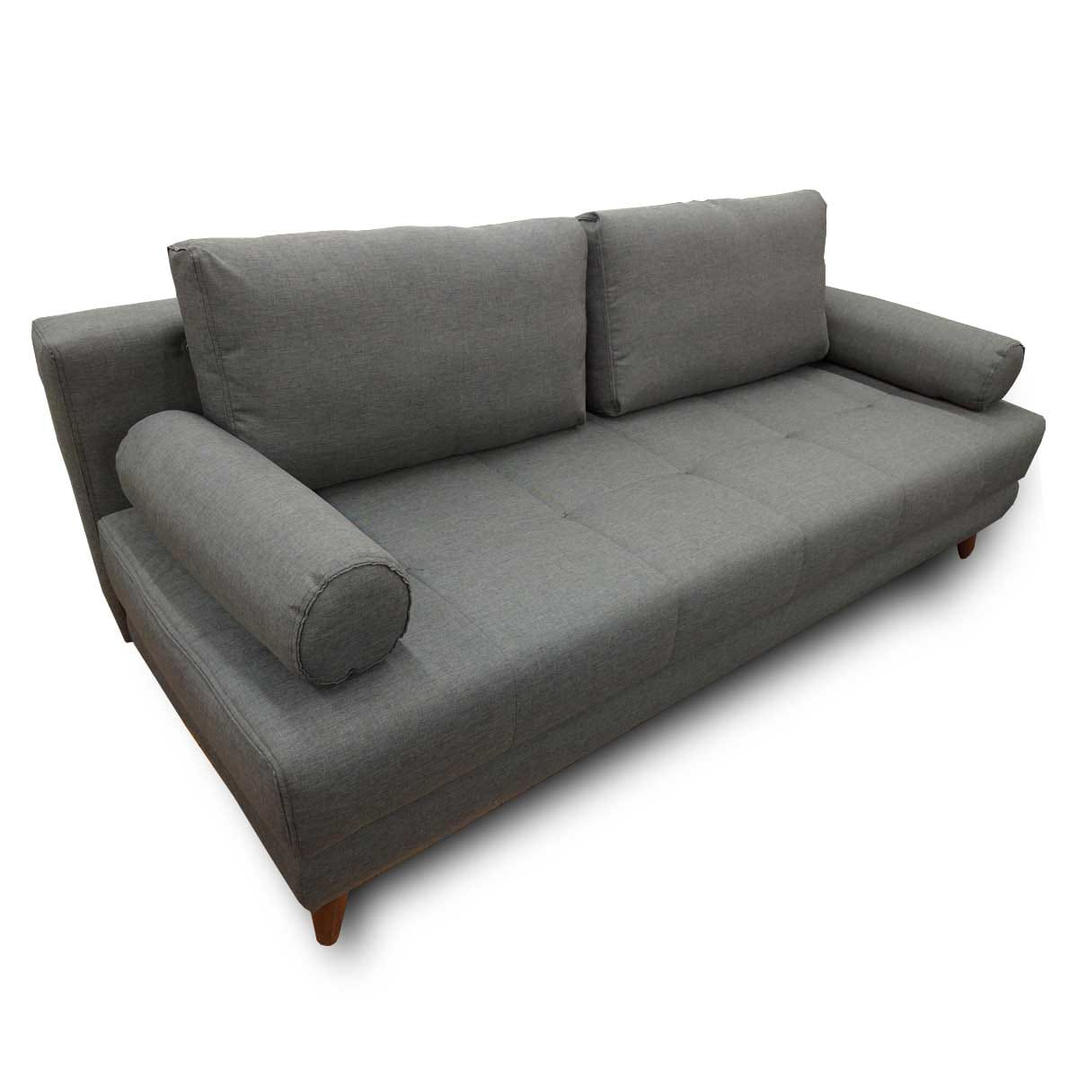 Stella diego dark gray convertible sofa bed queen sleeper for Sofa bed name