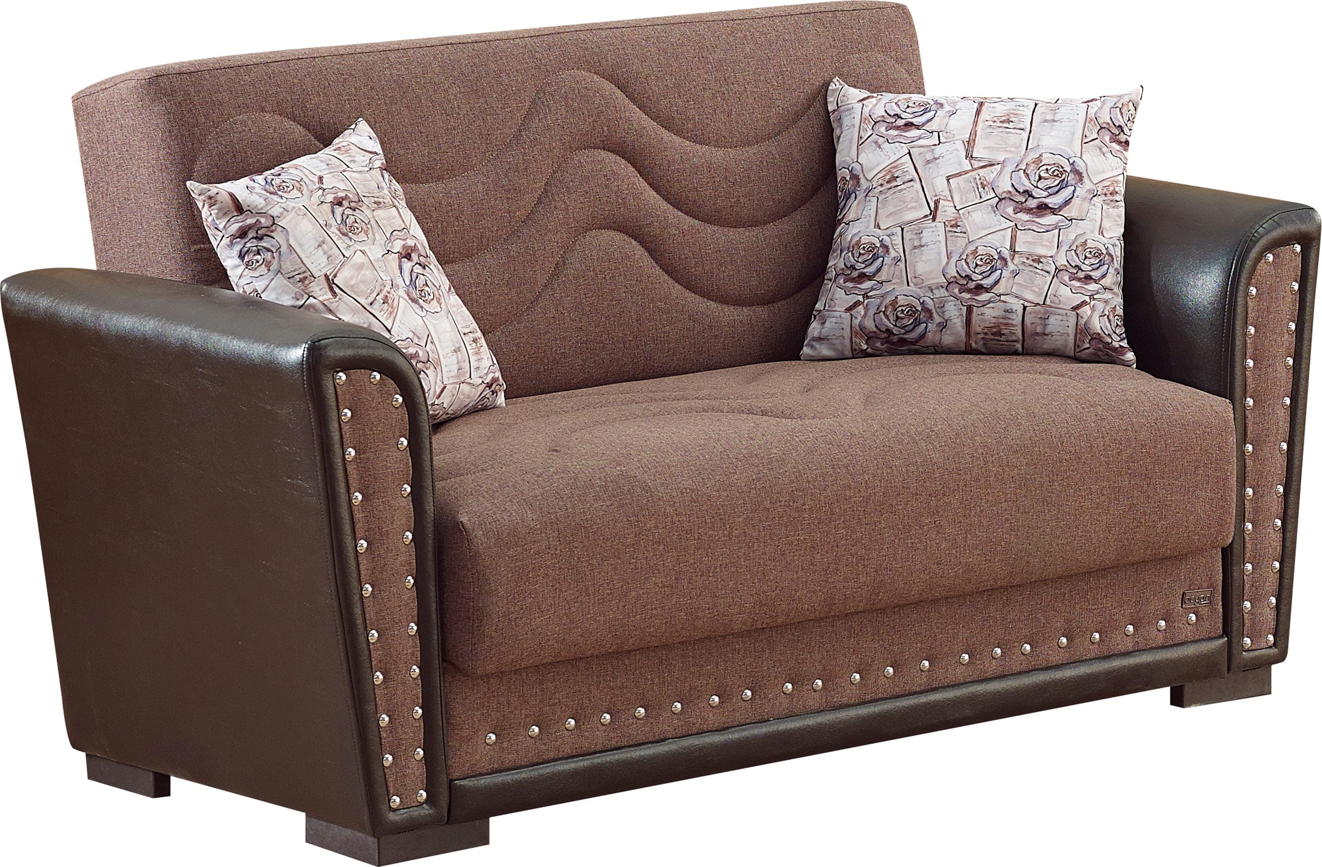 Toronto Brown Fabric Loveseat By Empire Furniture Usa