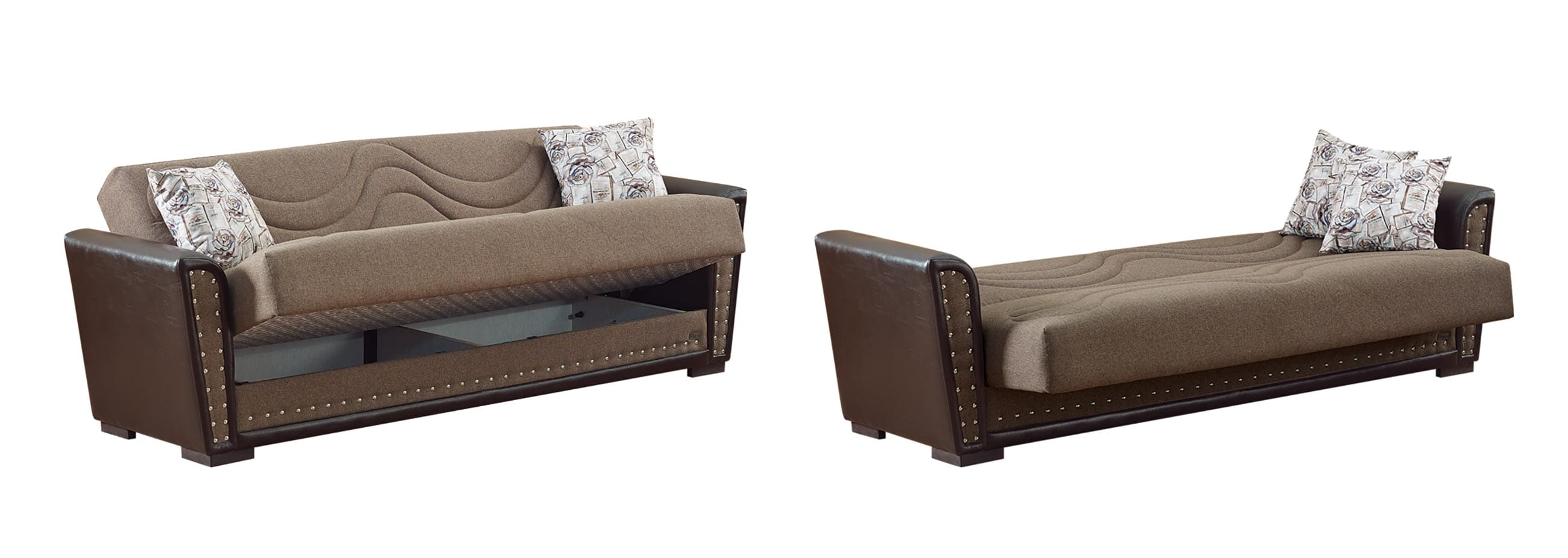 Toronto Brown Fabric Sofa Bed By Empire