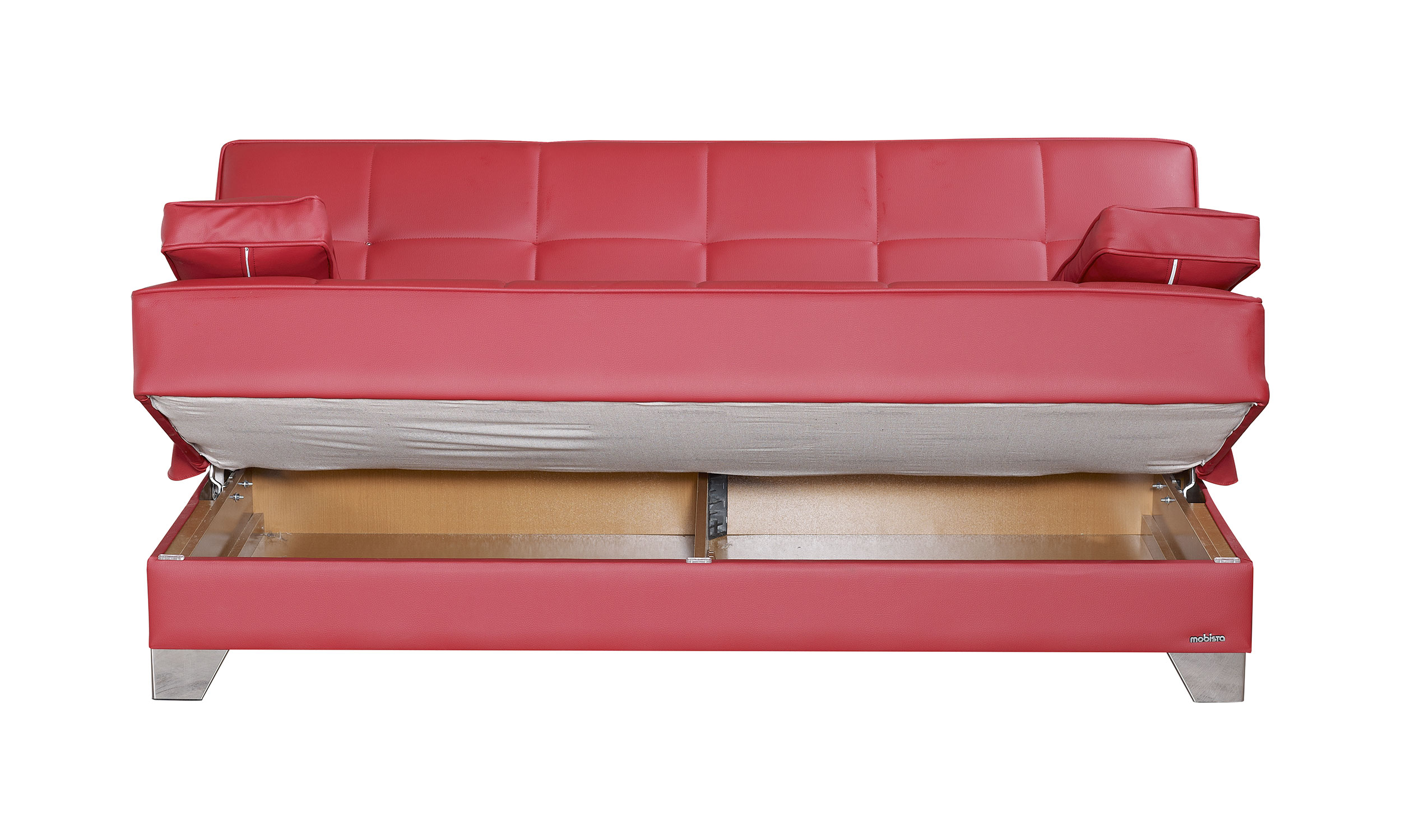 Tribeca nyc prestige red sofa bed by mobista for Sofa bed nyc