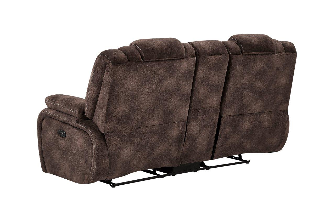 Excellent U1706 Night Range Chocolate Fabric Power Console Reclining Ocoug Best Dining Table And Chair Ideas Images Ocougorg