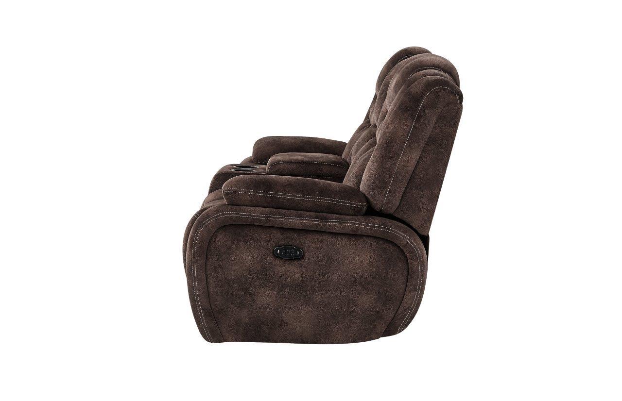 Swell U1706 Night Range Chocolate Fabric Power Console Reclining Frankydiablos Diy Chair Ideas Frankydiabloscom