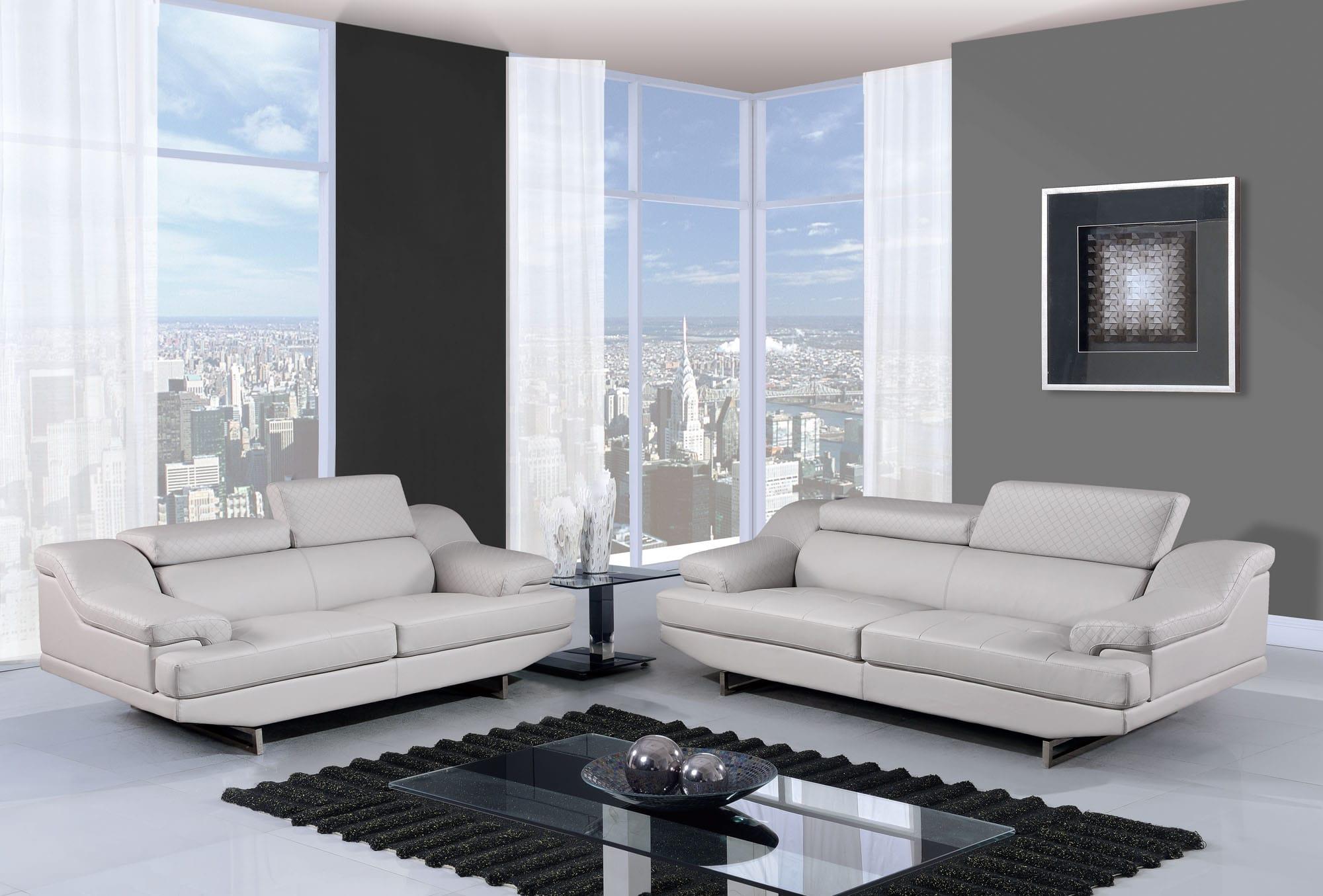 U8141 Light Grey Bonded Sofa by Global Furniture