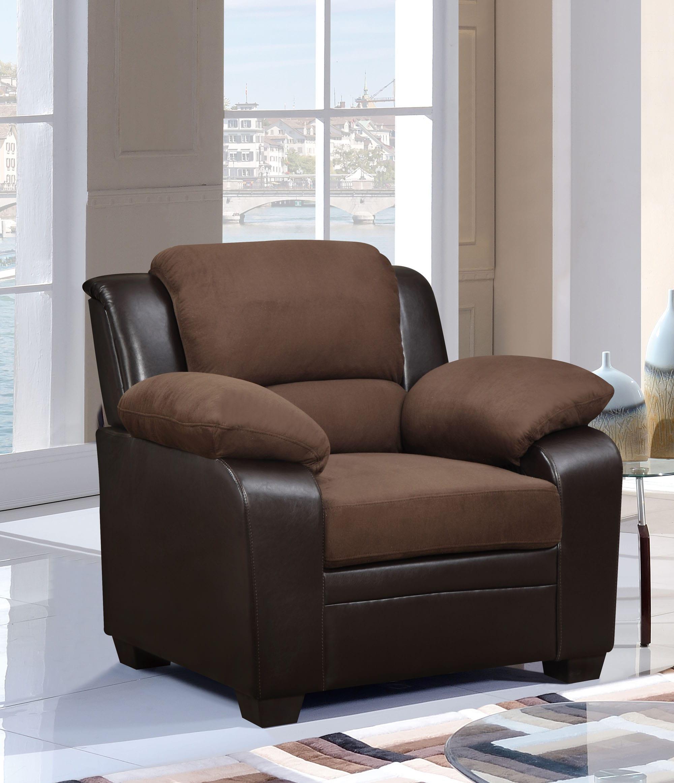 U KD Chocolate Microfiber Chair by Global Furniture