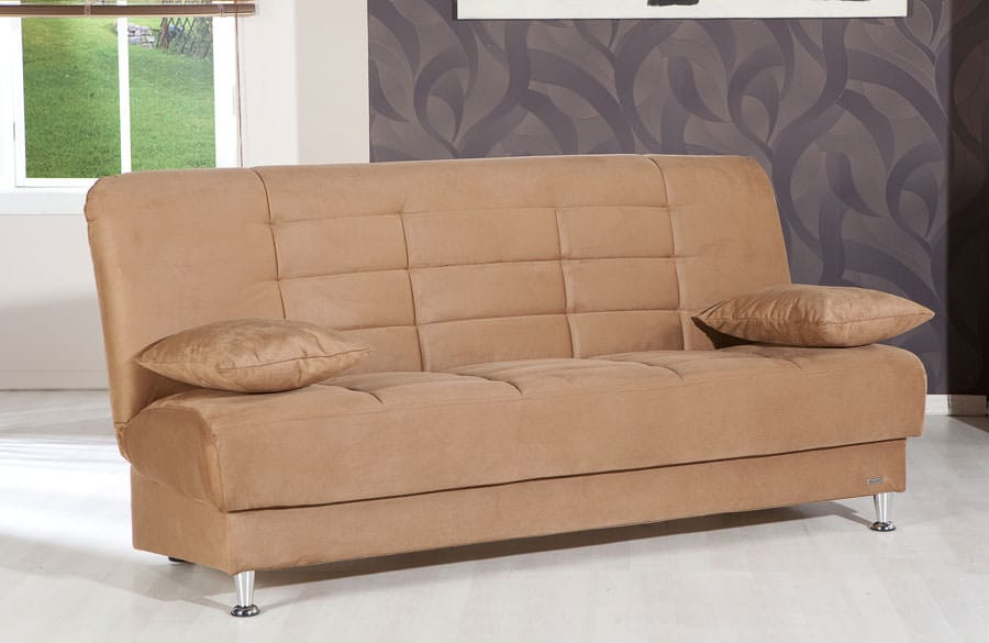 Vegas Rainbow Brown Convertible Sofa Bed By Istikbal Furniture