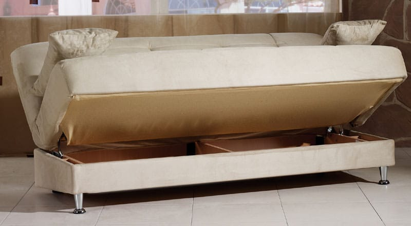 Vegas Rainbow Beige Convertible Sofa Bed By Istikbal Sunset