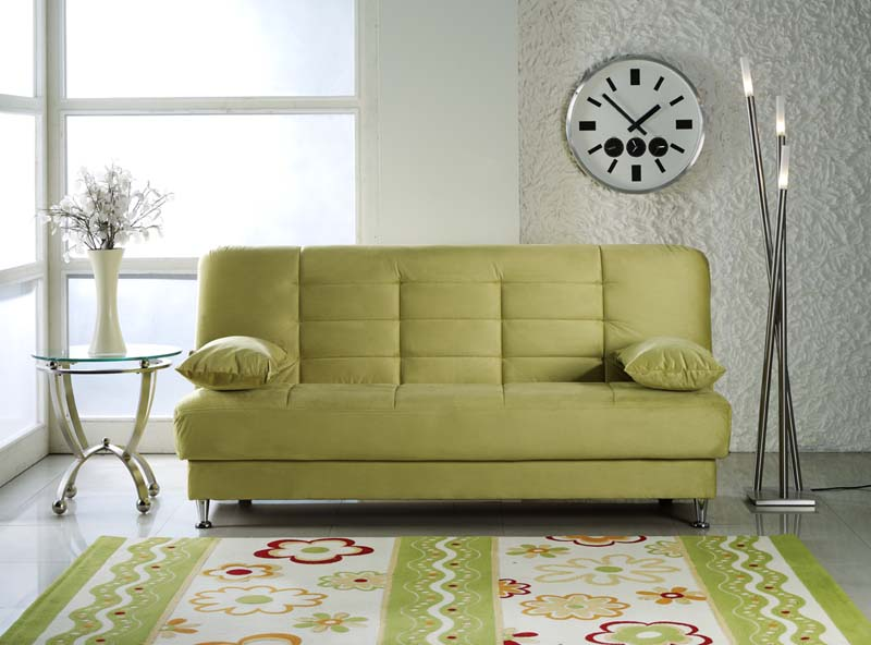 Vegas Rainbow Green Convertible Sofa Bed By Istikbal Sunset Furniture