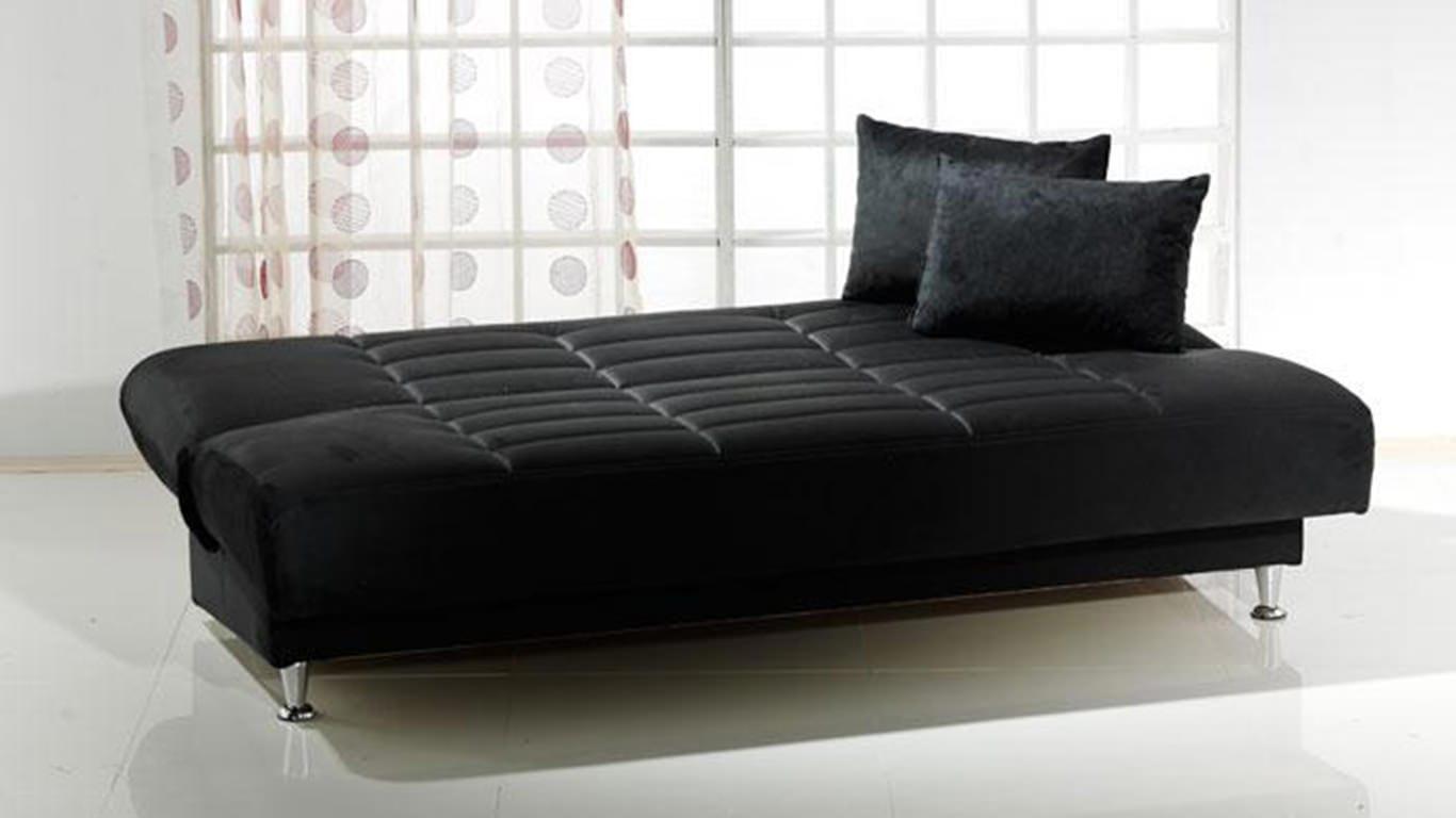 Vegas Rainbow Black Convertible Sofa Bed by Istikbal Furniture