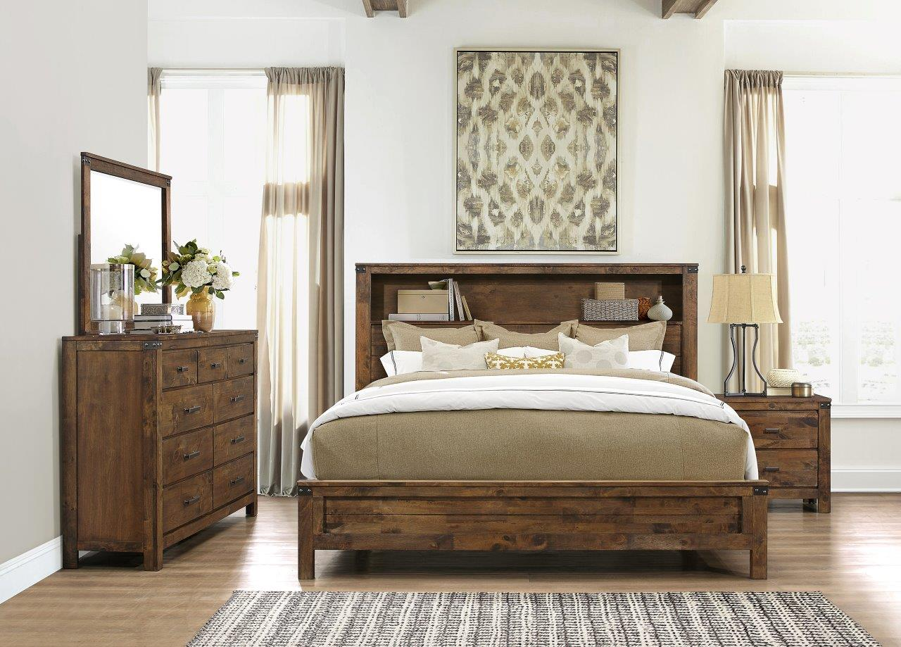 Victoria Rustic Oak Bedroom Set By Global Furniture