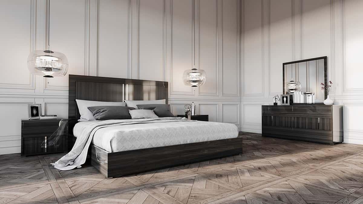 Modrest Ari Italian Modern Gray Bedroom Set By Vig Furniture