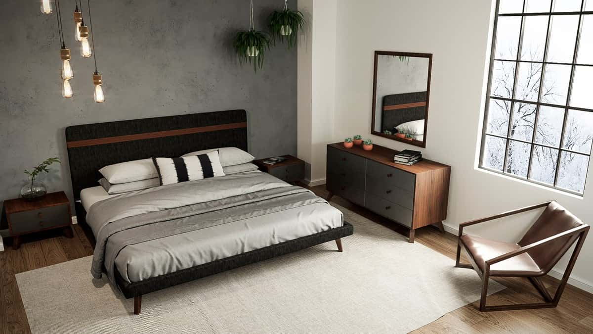 Nova Domus Dali Modern Gray Walnut Bedroom Set By Vig Furniture