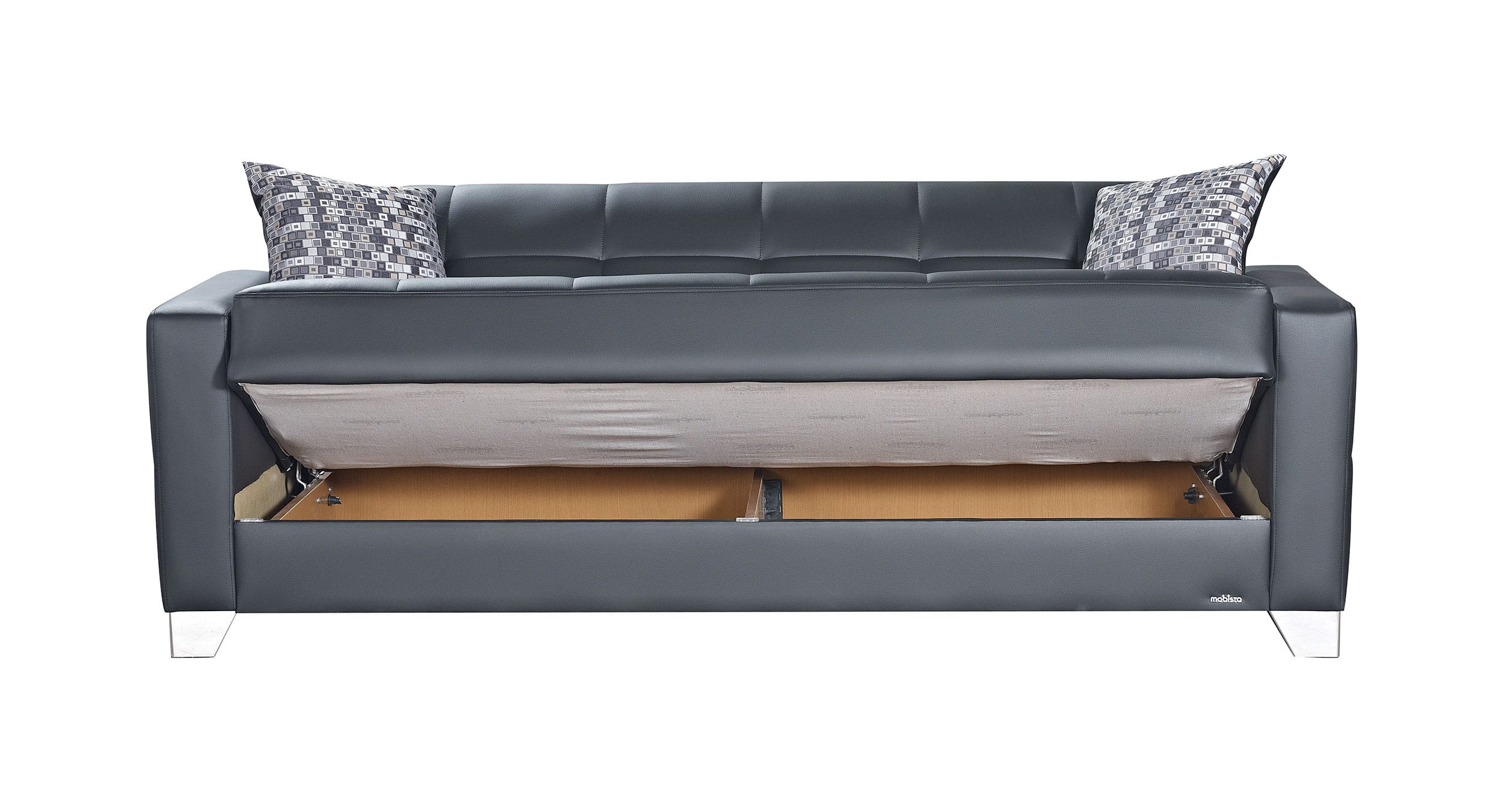 Viva Italia Prestige Black Leatherette Sofa Bed By Mobista