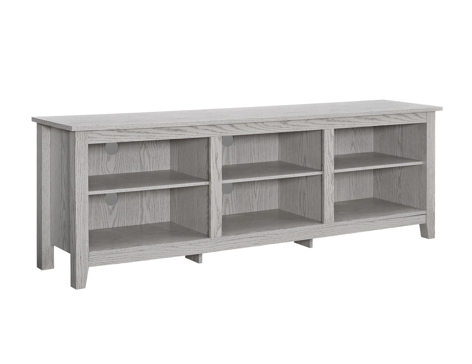 70 Inch Wood Media Tv Stand Storage Console White Wash By Walker
