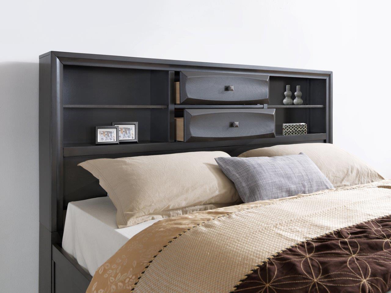 Wyatt Antique Gray Bedroom Set by Global Furniture
