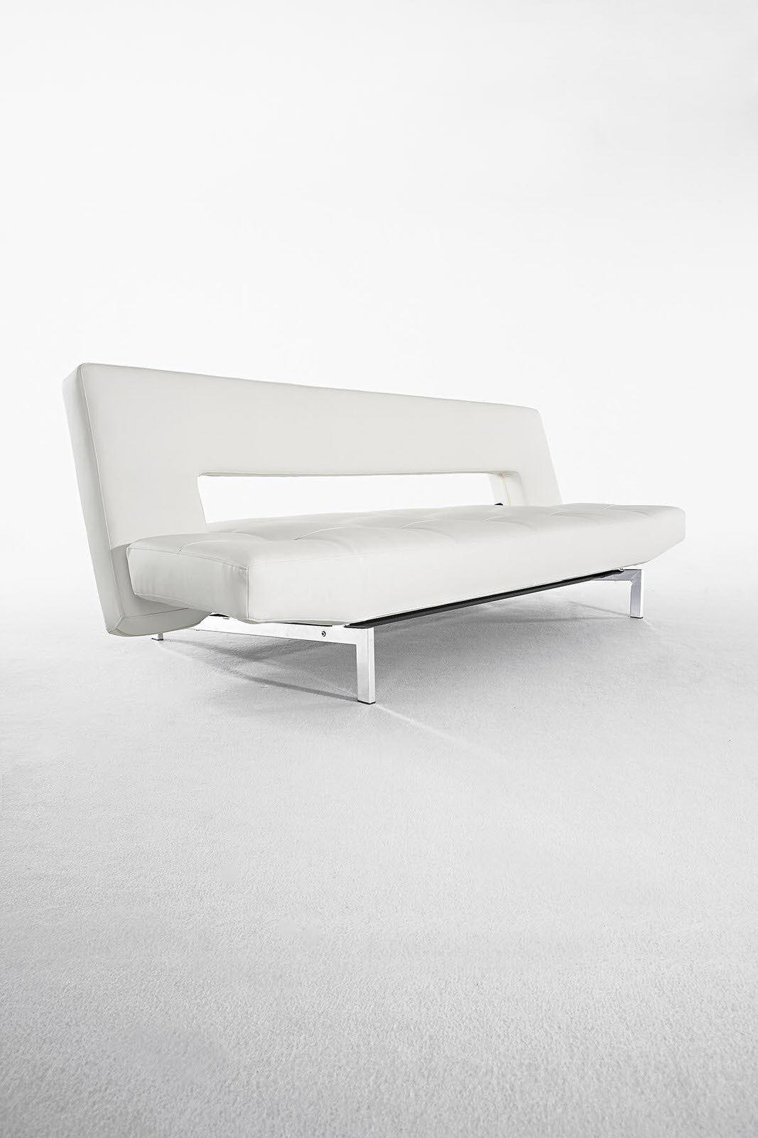 Fine Wing Deluxe Sofa Bed White Leather Textile By Innovation Pdpeps Interior Chair Design Pdpepsorg