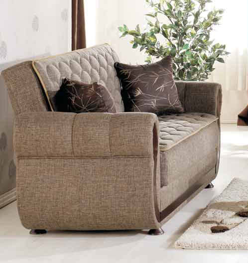 Argos Terapy Light Brown Loveseat By Istikbal Furniture