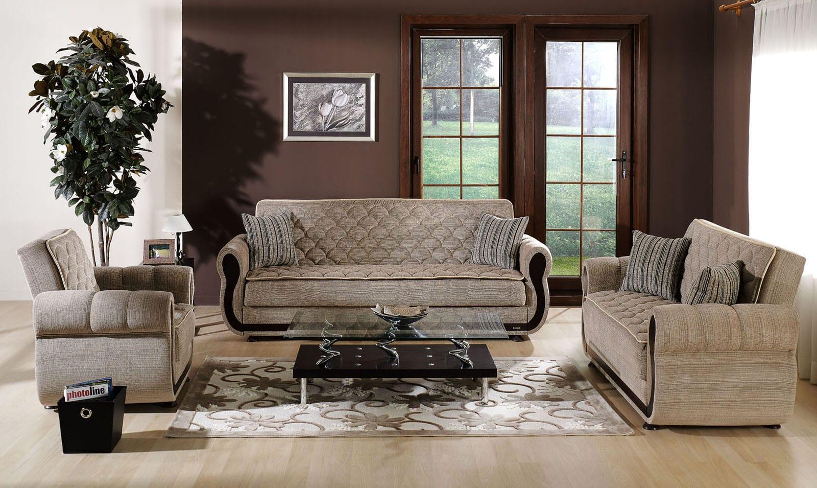 Argos Zilkade Light Brown Convertible Sofa Bed By Istikbal