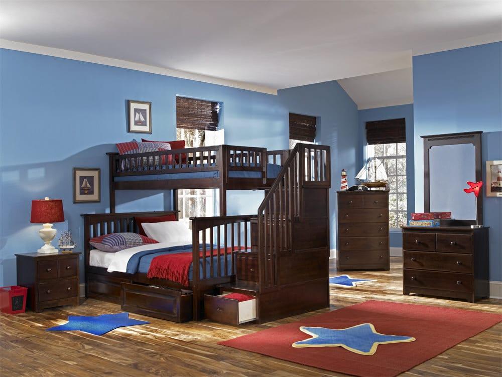 Columbia Bunk Bed W Staircase By Atlantic Furniture