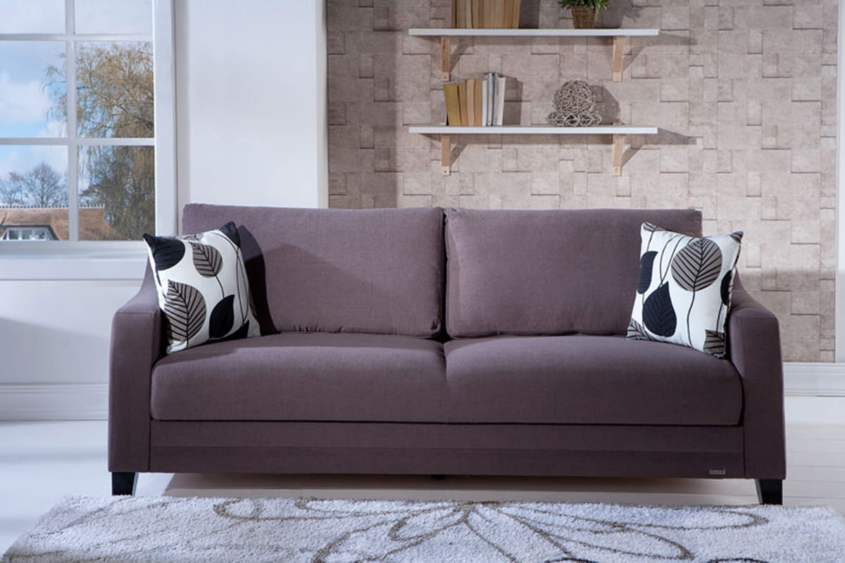 Denver Cozy Brown Convertible Sofa Bed By Istikbal Furniture