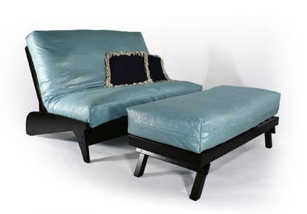 Dillon Warm Cherry Loveseat Wall Hugger Futon Frame By Strata Furniture