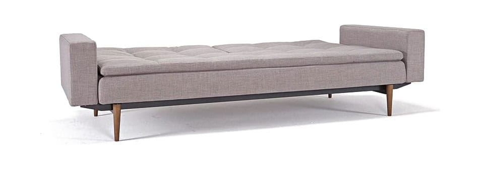 Dublexo Deluxe Sofa wArms Begum Light Gray by Innovation : dublexosofaarmdark wood5051 31 from www.functionalfurniturenyc.com size 800 x 600 jpeg 30kB