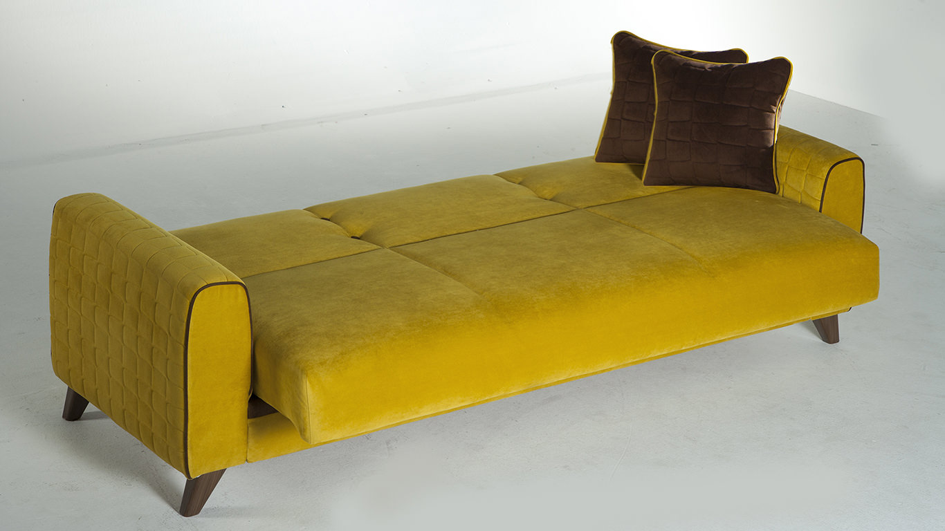 Yellow sofa bed thesofa for Yellow sofa