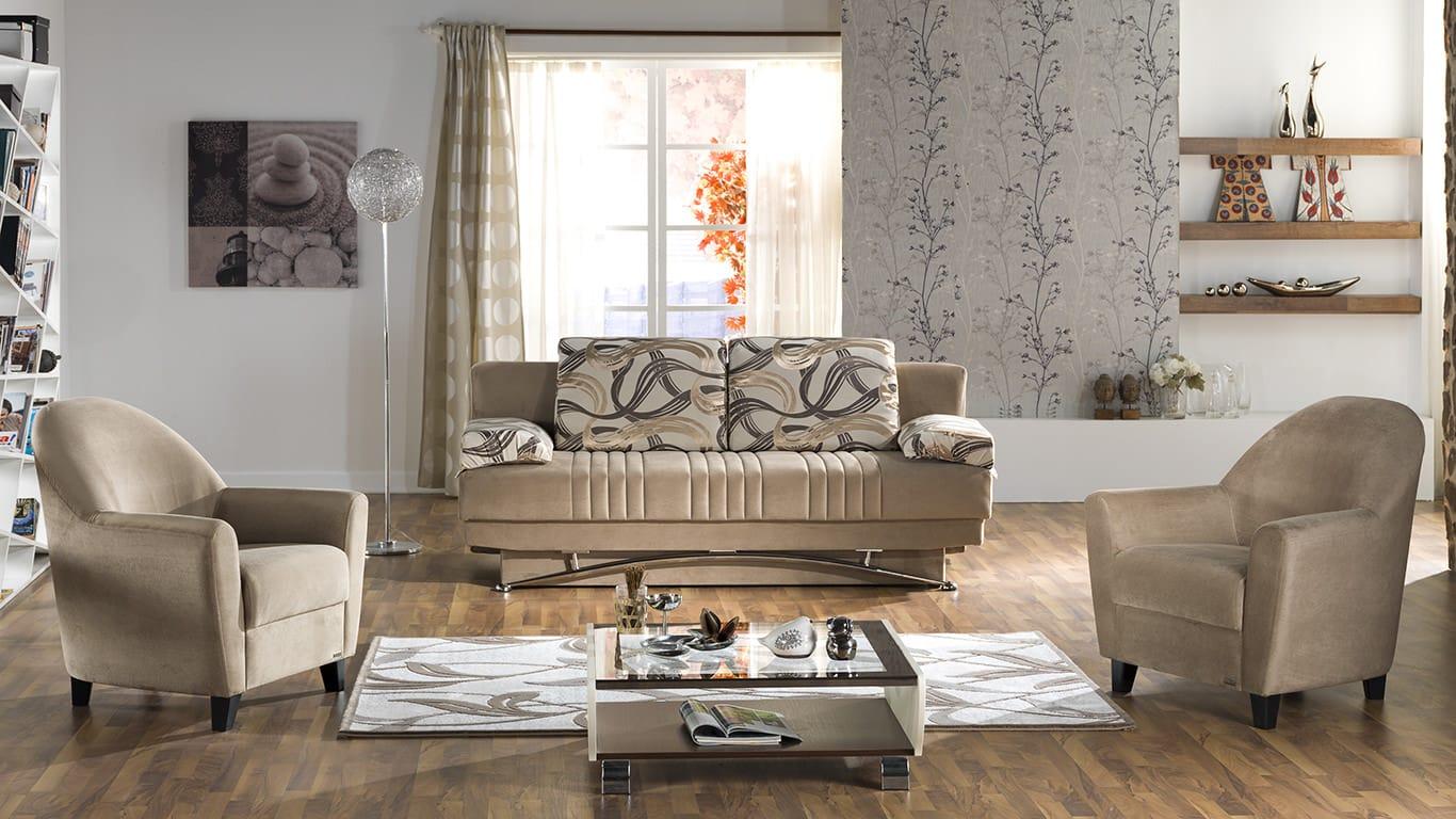 Floor Sample Fantasy Best Vizon Convertible Sofa Bed By Sunset (Sunset  International (Istikbal)