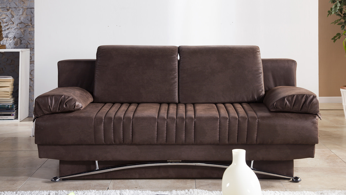 Fantasy chocolate convertible sofa bed by sunset Convertible loveseat bed