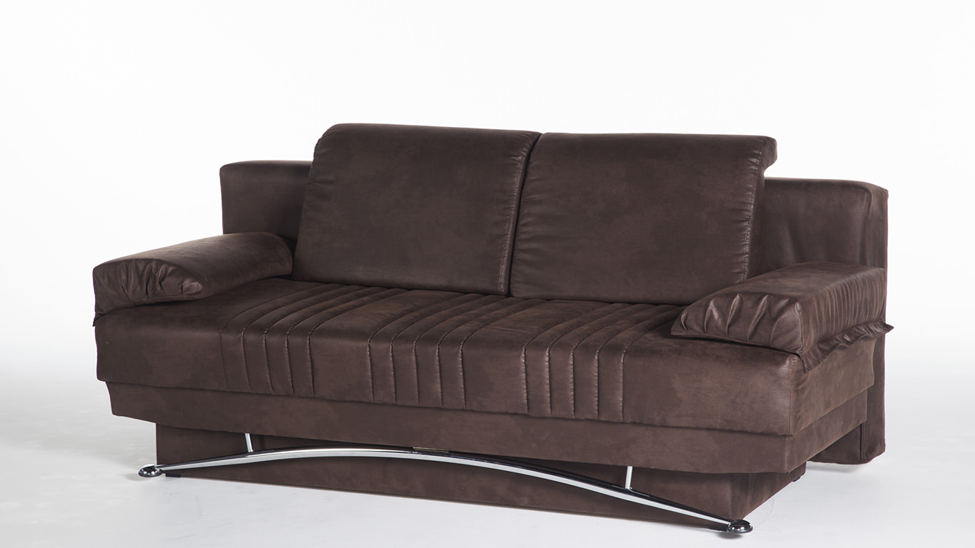 Fantasy Chocolate Convertible Sofa Bed By Istikbal Furniture