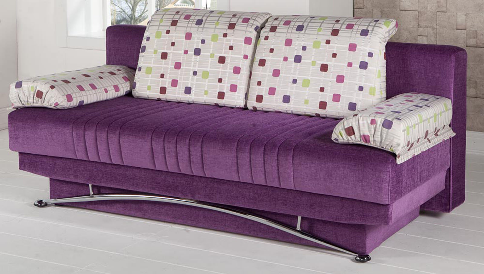 fantasy corbin purple convertible sofa bed by sunset sunset istikbal