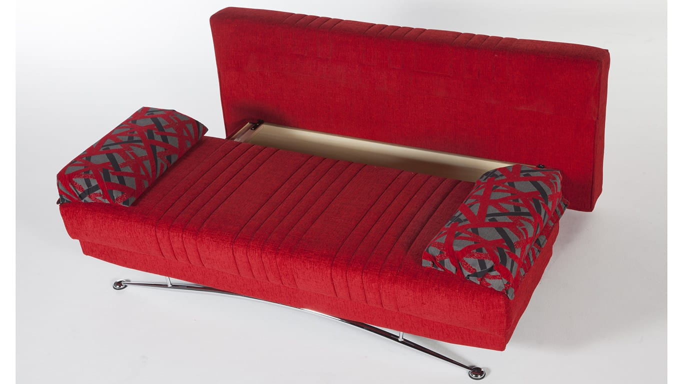 Fantasy Story Red Convertible Sofa Bed By Istikbal (Sunset) (Istikbal  (Sunset Furniture