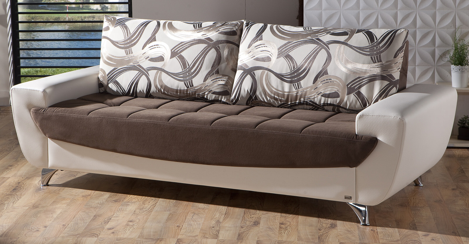 Legro Best Brown Convertible Sofa Bed By Istikbal Furniture