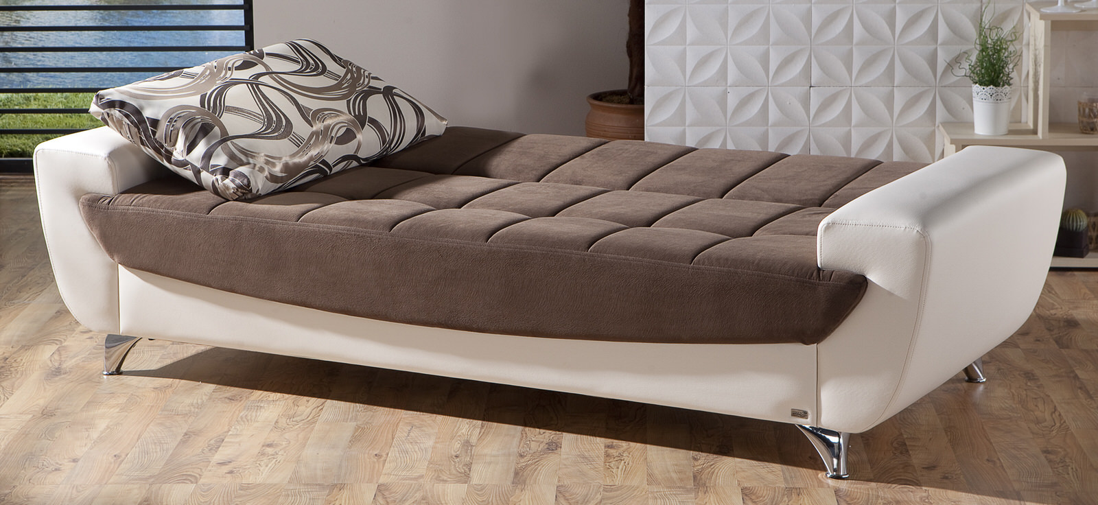 Legro Best Brown Convertible Sofa Bed by Sunset
