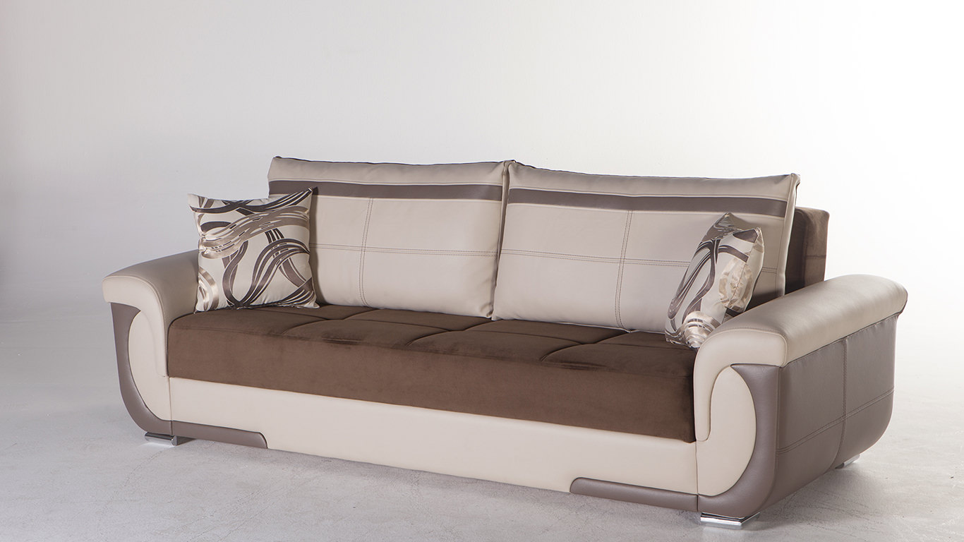 Lima S Best Brown Convertible Sofa Bed by Istikbal Furniture