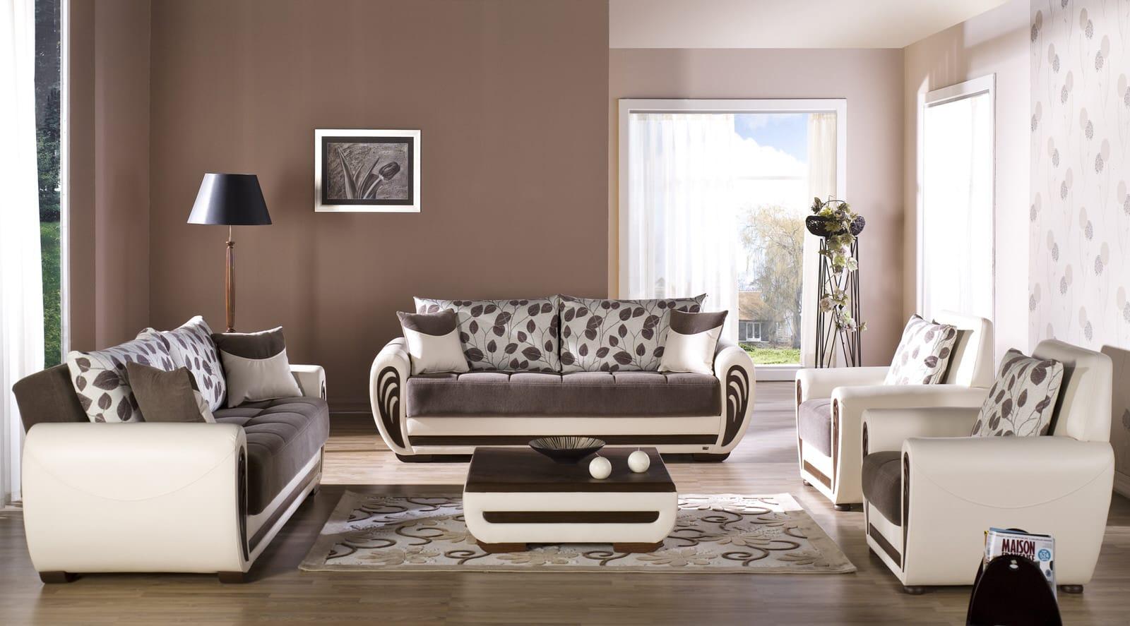 Delightful Marina Armoni Brown Sofa, Love U0026 Chair Set By Istikbal (Sunset) (Istikbal
