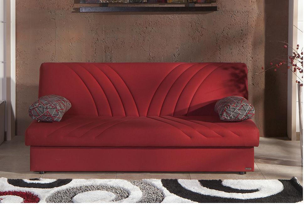 Max Naturale Red Convertible Sofa Bed By Sunset Istikbal Furniture