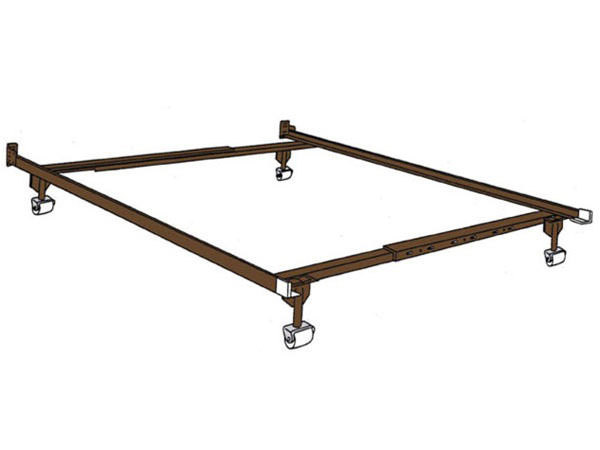 Universal Adjustable Metal Bed Frame Twin/Full ()
